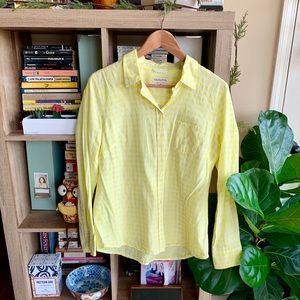 Merona Yellow Check Button-up Shirt